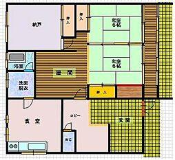 霞コーポ貸家[1階]の間取り