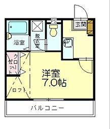 レイクタウン坪見2[2階]の間取り