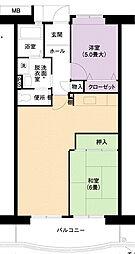 URアーバンラフレ小幡4号棟[4階]の間取り