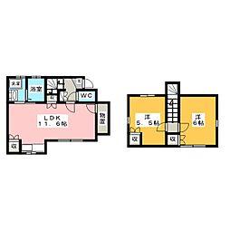 [一戸建] 岐阜県可児市土田 の賃貸【/】の間取り