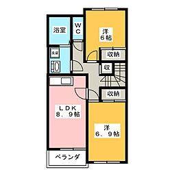 サンコート クレア A[2階]の間取り