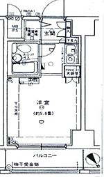 ルネ和田町[425号室]の間取り