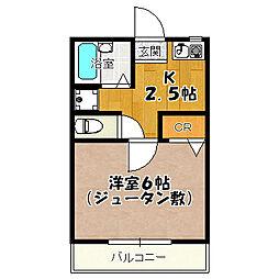 第10松浦コーポ[1階]の間取り