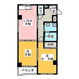 ハイムエクセル[3階]の間取り