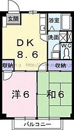 ニューシティ和田山[202号室]の間取り
