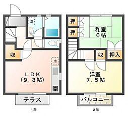 [テラスハウス] 東京都小金井市中町3丁目 の賃貸【/】の間取り