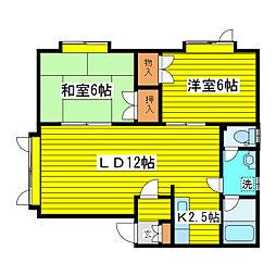 北海道札幌市東区北三十九条東7丁目の賃貸アパートの間取り