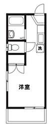 アバン茅ヶ崎[205号室号室]の間取り
