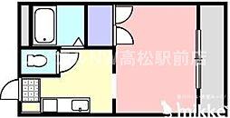 香川県高松市伏石町の賃貸マンションの間取り