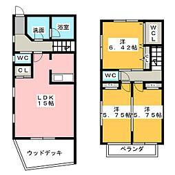 [テラスハウス] 愛知県名古屋市瑞穂区下山町1丁目 の賃貸【/】の間取り