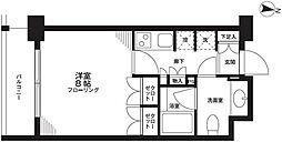 東京都新宿区新小川町の賃貸マンションの間取り