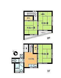 [一戸建] 東京都足立区鹿浜7丁目 の賃貸【/】の間取り