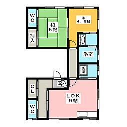 對馬アパート[3階]の間取り