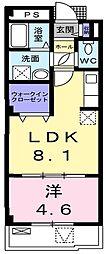 大阪府枚方市田口2丁目の賃貸マンションの間取り