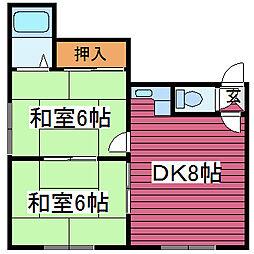 マクセル35-100[1号室]の間取り