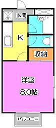 東京都練馬区貫井1丁目の賃貸アパートの間取り