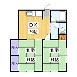 ハイツ野崎[2階]の間取り