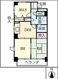 濃尾開発ビル[4階]の間取り