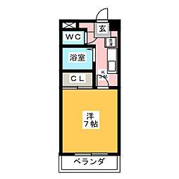 ドリームタウン伊勝[2階]の間取り