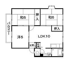サンビレッジ三宅D[2階]の間取り