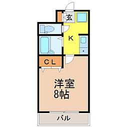 愛知県名古屋市昭和区広路本町6丁目の賃貸マンションの間取り