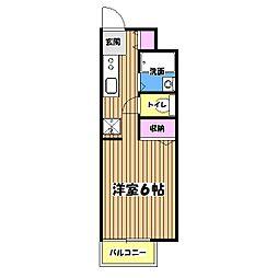 ハイツ93[1階]の間取り
