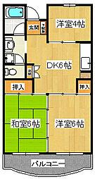 市川カトレアハイツ松塚[2階]の間取り