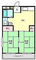 吉元マンション[2階]の間取り