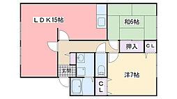 福岡県福岡市西区今宿2丁目の賃貸アパートの間取り