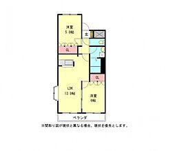 愛知県一宮市森本5丁目の賃貸アパートの間取り