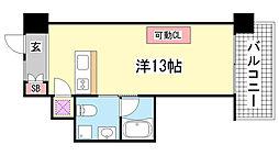 ロイスグラン神戸湊川公園[602号室]の間取り
