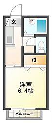 Kフラット[1階]の間取り