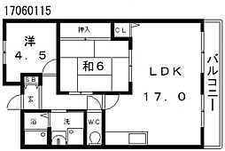 プランドールソシア[4階]の間取り