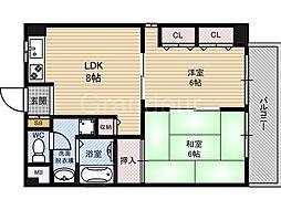 大東マンション2[4階]の間取り
