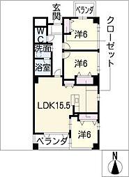 コモド覚王山[2階]の間取り