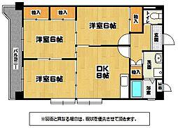 第三矢野ビルB棟[3階]の間取り