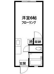 コーポふじ[102号室]の間取り