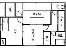 大阪府和泉市富秋町1丁目の賃貸アパートの間取り