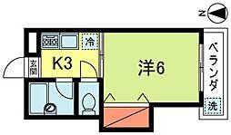 サンピュアーパレス[3階]の間取り