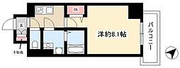 エスリード名古屋東別院 6階1Kの間取り