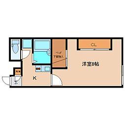 奈良県香芝市西真美の賃貸アパートの間取り