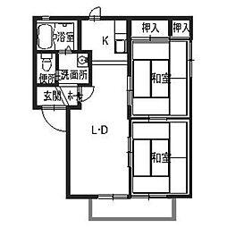ミズホハイツ[2階]の間取り
