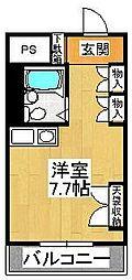 千葉県船橋市本中山6丁目の賃貸マンションの間取り