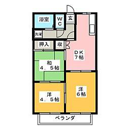 ハローユー柊[1階]の間取り