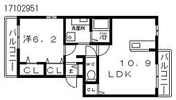 メゾンステラ[2階]の間取り