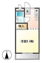 愛知県名古屋市守山区野萩町の賃貸マンションの間取り