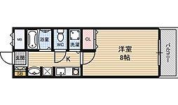 グリーンプラザ新梅田[2階]の間取り