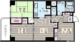824-レーヴ富士見台[4階]の間取り