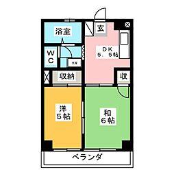 サンハイツPART1[2階]の間取り