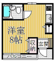 オネスト中島[102号室]の間取り